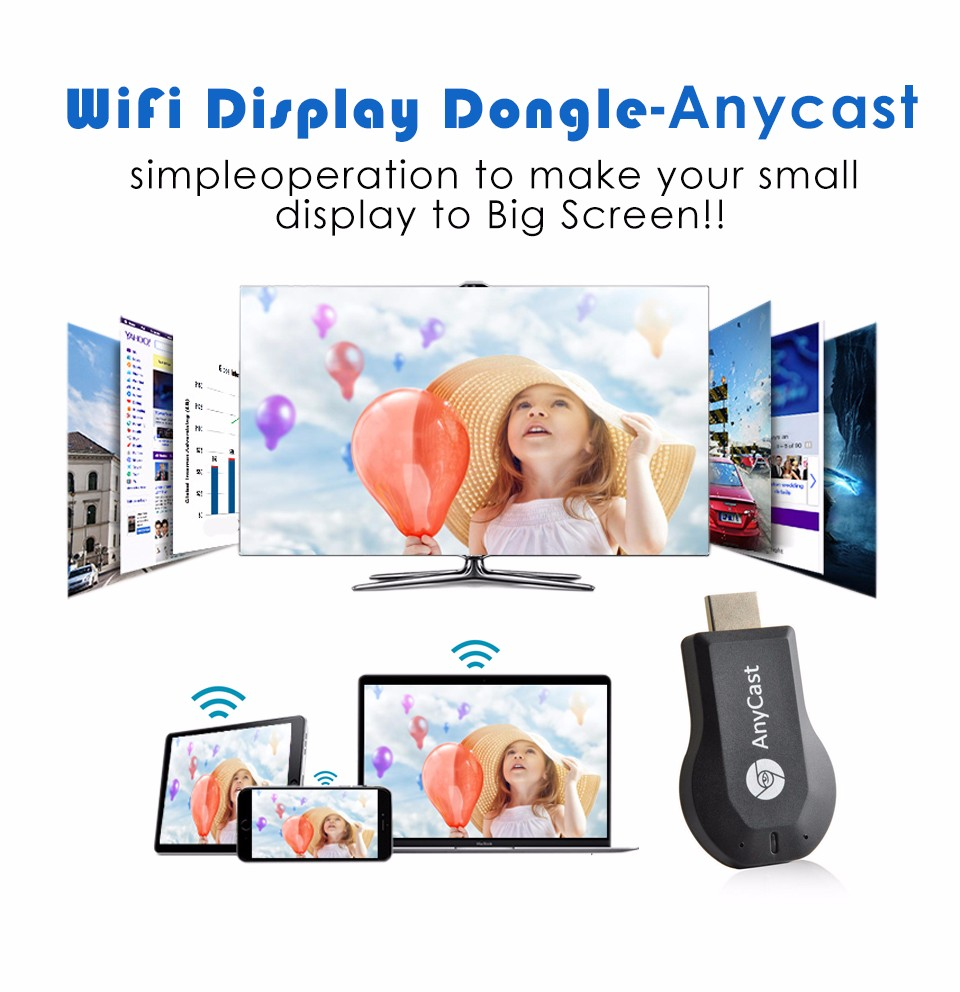 Anycast Ez Cast M2 Wireless Wifi Dongle Display Hdmi Output 1080p Use For The Device Of Tv Projector Lcd This Product Support Windows Mac Os Ios Android Greatest Operate System
