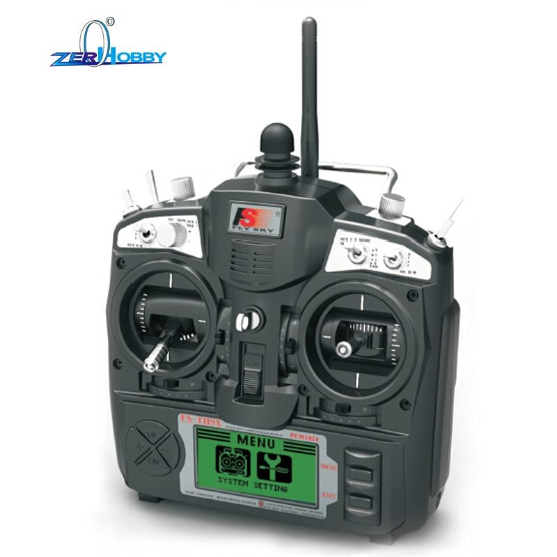 Flysky FS-TH9X AFHDS 2.4GHz 9CH Radio 9Channel Transmitter + R9B Receiver for RC Airplane niorfnio portable 0 6w fm transmitter mp3 broadcast radio transmitter for car meeting tour guide y4409b