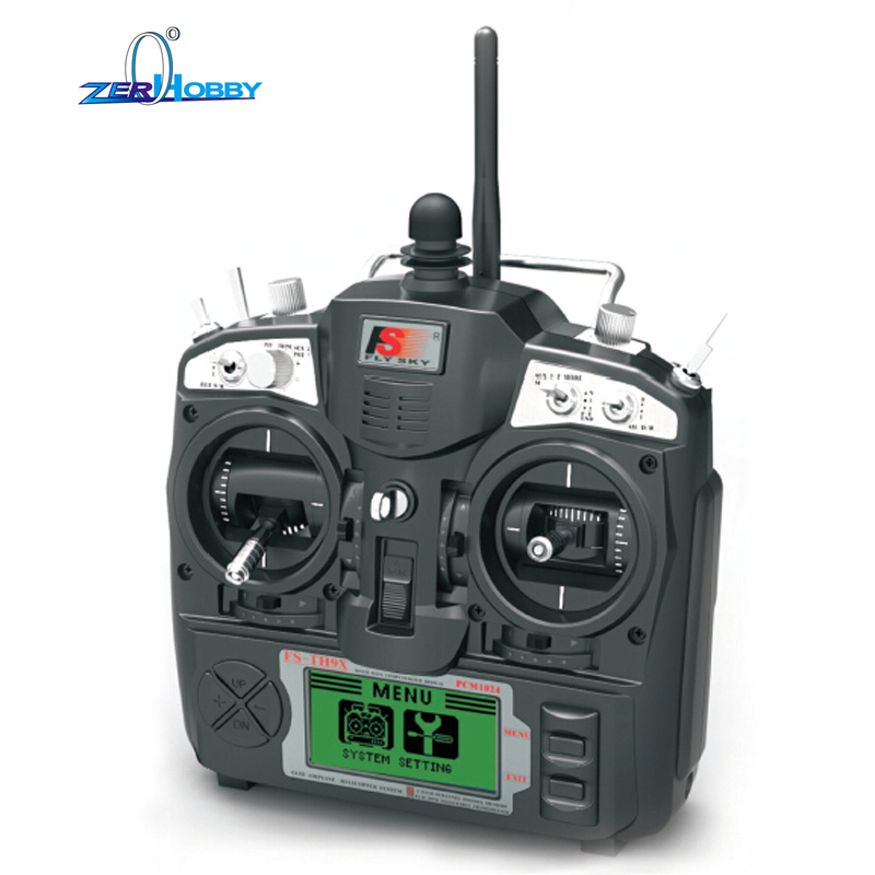 Flysky NEW FS-TH9X AFHDS2A 2.4GHz 9CH Radio 9Channel Transmitter + iA10B Receiver for RC Airplane niorfnio portable 0 6w fm transmitter mp3 broadcast radio transmitter for car meeting tour guide y4409b