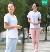 Medical Uniforms New Trend Spring/Summer Short Sleeved Nurse Uniform Beauty Salon Uniform medical scrubs women Dzy003