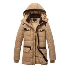 Men Winter Parka Men Hooded Collar Coat Men's Warm Jacket Windproof Casual Outerwear Thick Medium Long Coat Men Parka Size 3XL