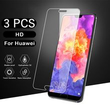 3pcs/Lot Tempered Glass For Huawei Y9 Y6 Y5 Y7 2018 2019 Prime Y5II Y6II II Explosion Proof Screen Protector(China)
