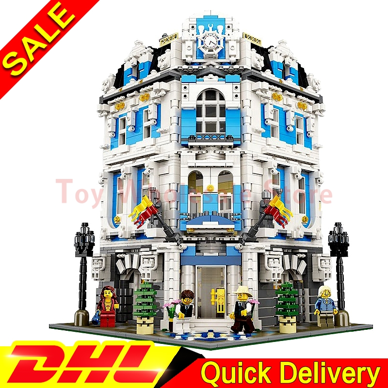 LEPIN 15018 3196pcs MOC City Series Sunshine Hotel Building Blocks Bricks Puzze Assembled lepins Toys new 3196pcs lepin 15018 moc city series the sunshine hotel set building blocks bricks educational toys diy children day s gift
