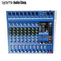 8 Channel Bluetooth Audio Mixer Digital Effect DJ Karaoke Music Sound USB Equipment Mixing Controller with 48V Phantom Power USB