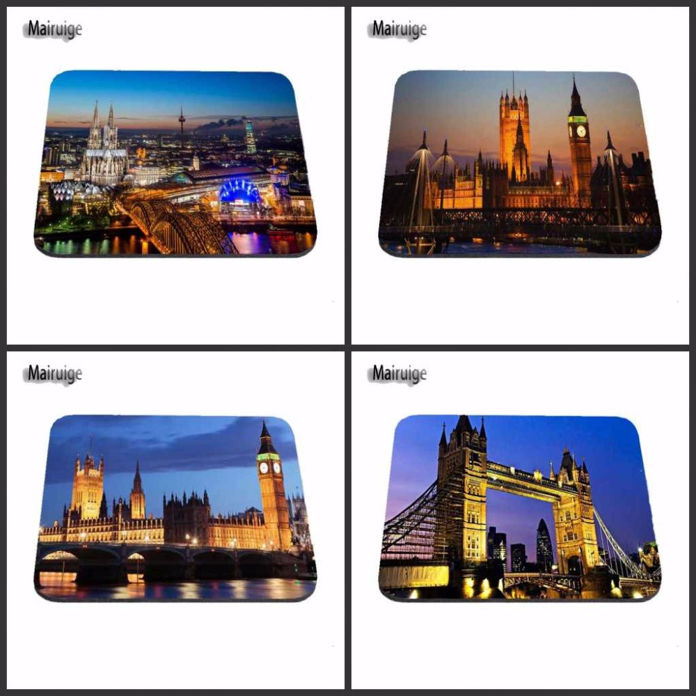 Top Sell Love Big Ben UK London Night Time Scenery Stylish Mouse Pad Gaming Rectangle Mousepad 22x18cm And 25x20cm And 25x29cm ...