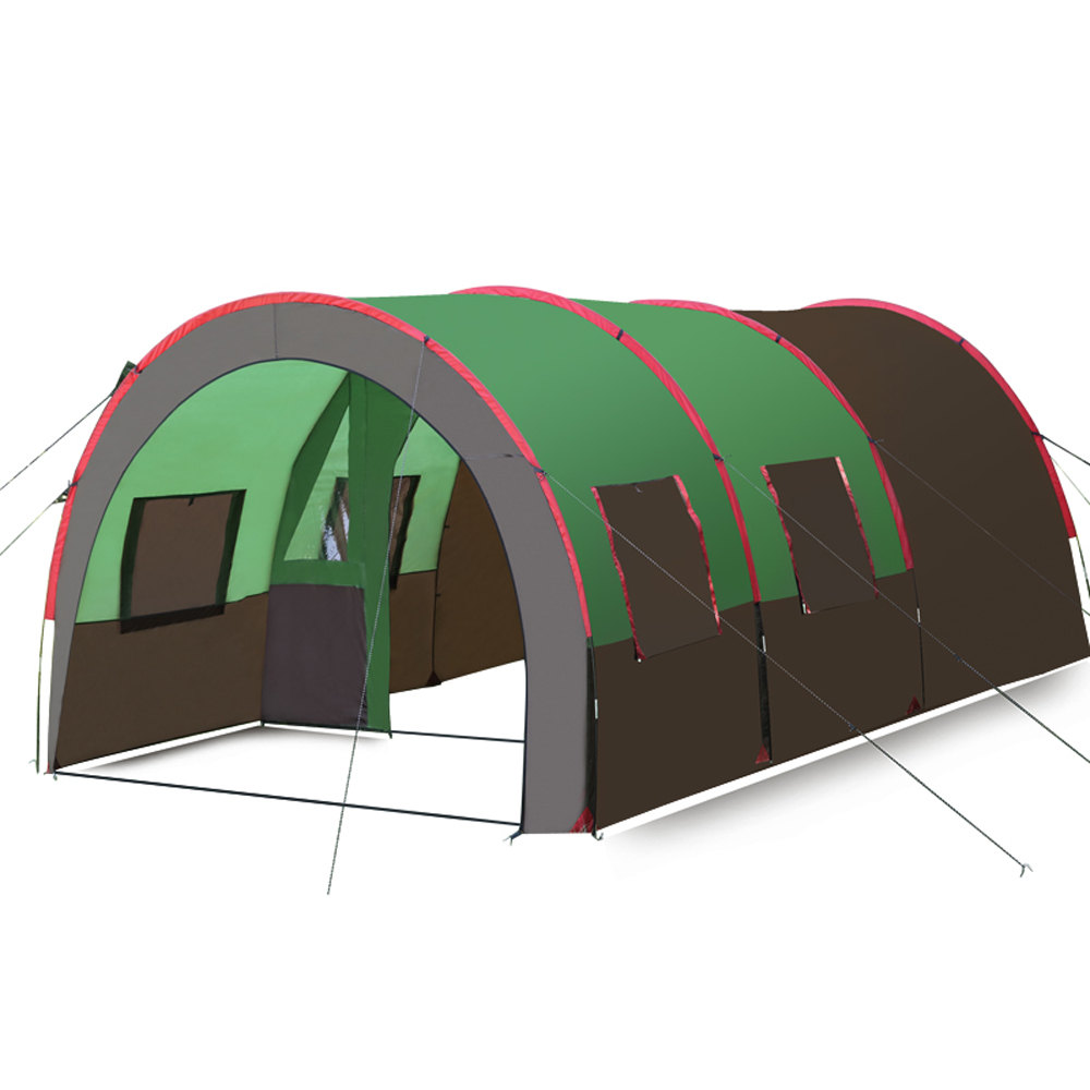 Hewolf 8 To 10 Person 2 Bedroom 1 Living Room Waterproof Company Team Family Party Hiking Fishing Beach Outdoor Camping Tent alpika 3 4 person 2 layer 1 bedroom 1 living room anti rain wind proof frp rod party hiking fishing beach outdoor camping tent