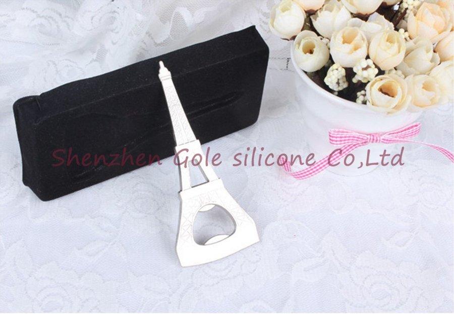 200pcslot La Tour Eiffel Eiffel Tower Chrome Bottle Opener Free shipping Wedding favor and gifts