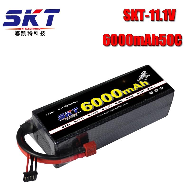 SKT Lipo RC batterie 3 S 11.1 V 6000 mah 50C-100C étui rigide pour RC voiture bateau hélicoptère Quadcpter