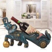 Ornaments Wine Holder Creative Soft Decoration Elephant Wine Rack Living Room Cabinet House warming Opening Gift Decoration