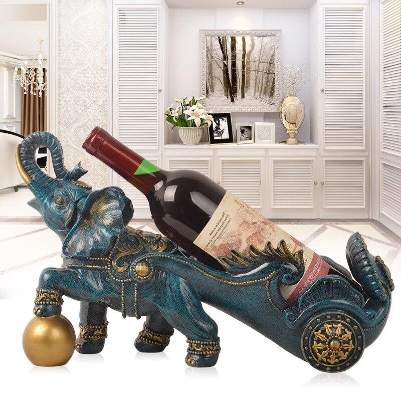 Ornements support de bouteille de vin créatif doux décoration éléphant vin Rack salon armoire maison réchauffement ouverture cadeau décoration