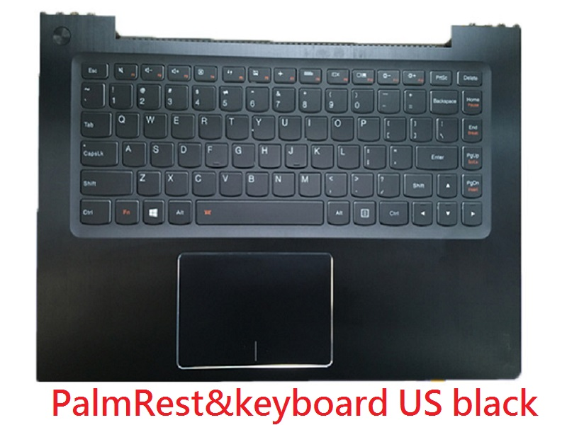 Laptop PalmRest&keyboard For Lenovo U330p U330 Touch English US 90003917 Touchpad With Backlit black New u330t uk laptop palmrest