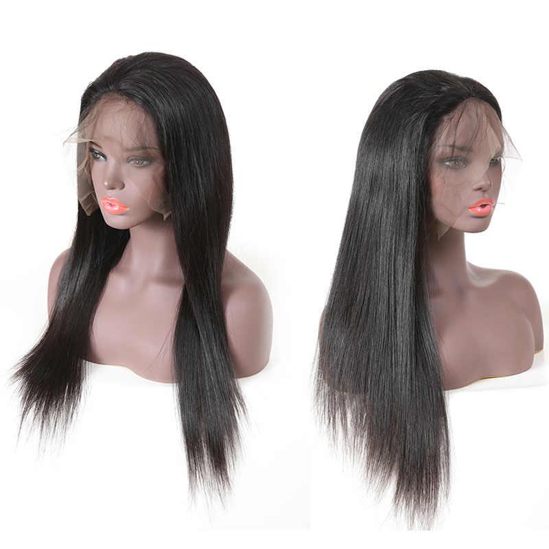 613 Loira 150% Peruca Cheia Do Laço Para As Mulheres Negras Não Transformados Brasileiro Virgem cabelo Humano Em Linha Reta Cabelo Do Bebê Pré-Depenados Natural cor