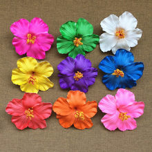 Hot new 1 pcs Hula Girls Original Soundtrack Foam Hawaiian flower Hibiscus bridal hair clip 9cm you pick flower jewelry(China)