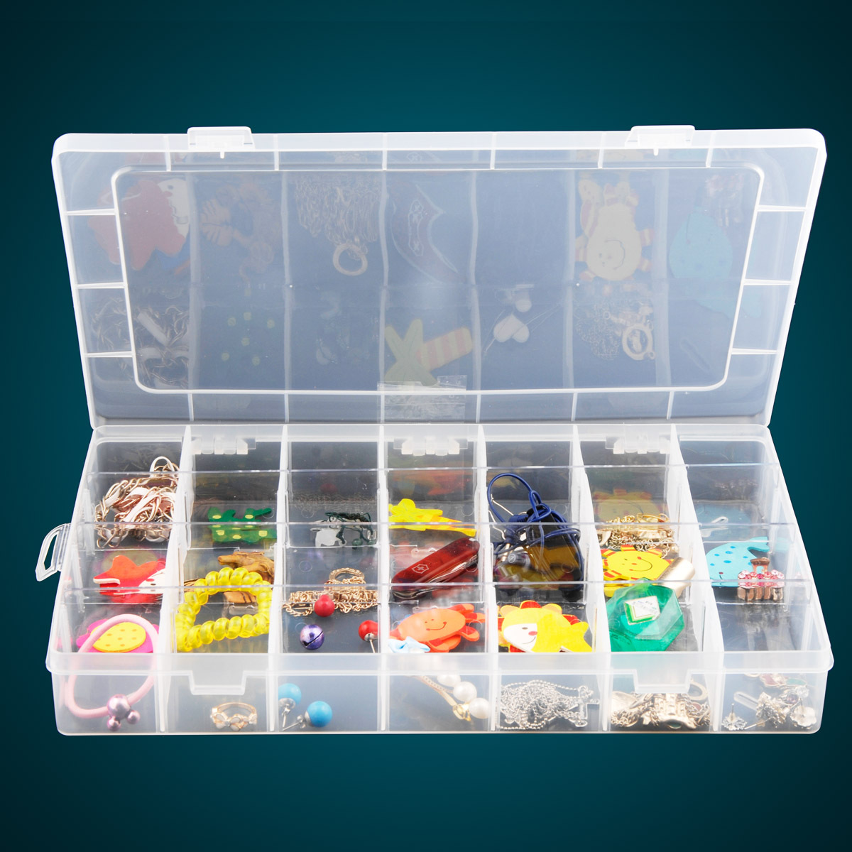 Acheter 28 couleur Transparent Boîte En Plastique Amovible Treillis De Stockage Débris Livraison Combinaison Ameublement Bijoux Boîte de Finition de box box fiable fournisseurs