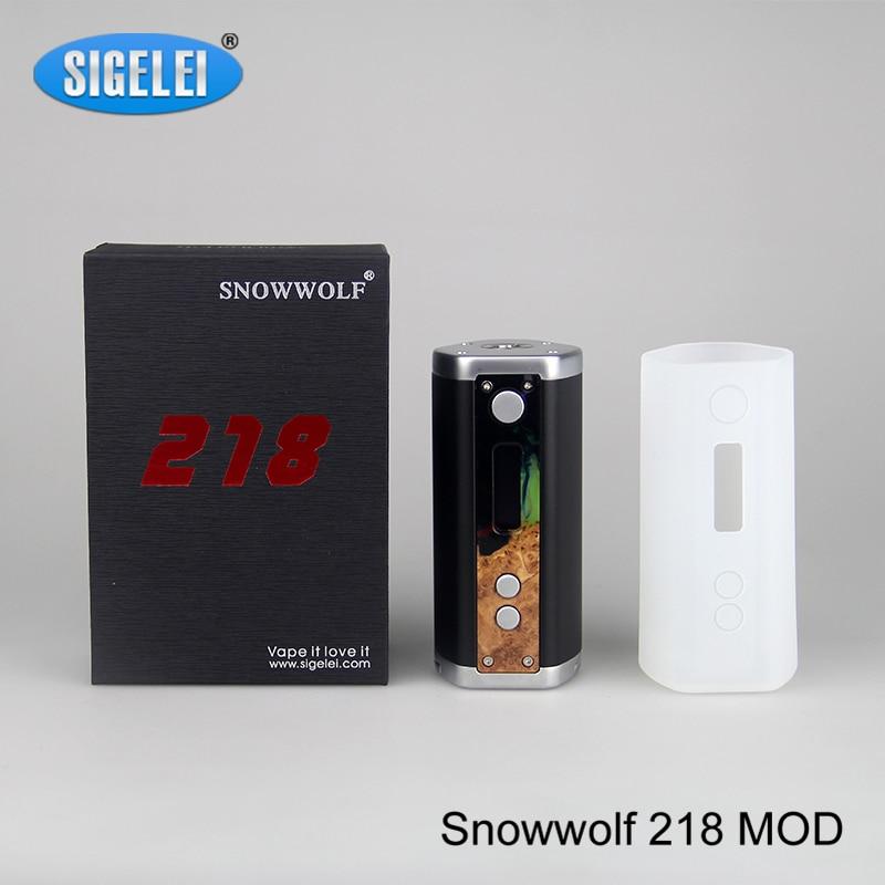 100% Original Sigelei Snowwolf 218 Mod 0.1-3.0ohm 10w-218W TC Mod Snowwolf 218 Electronic Cigarettes vape Mod no 18650 Battery