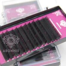 Abonnie All Size B/C/D/J Curl 1 Trays ,Individual Natural Mink Eyelash Extension.
