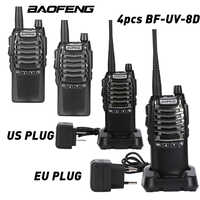 4pcs/lot BaoFeng UV-8D Walkie Talkie  Two-Way Single Band Interphone Hand Free 8W Portable UHF 400~480MHZ Dual PTT Radio