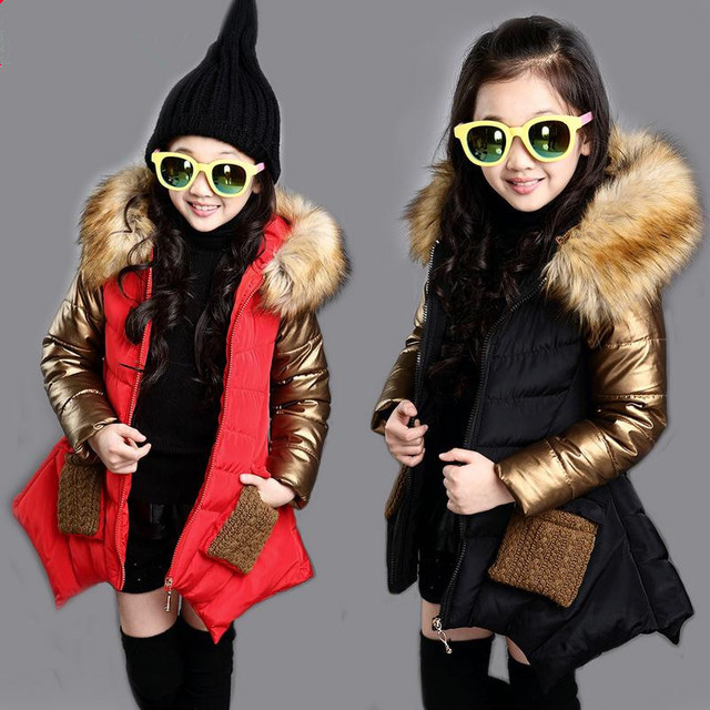 Best Price 5-16T Girls Coats And Jackets 2018 Autumn Winter Korean Children Hooded Coat Thick Cotton Warmer Kids Winter Coat Girls