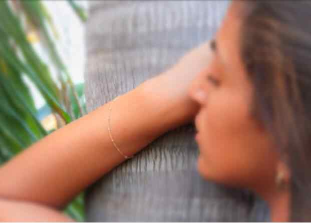 Mejor venta 1 pieza simple plata/oro exquisito cobre cuentas doble pulsera femenina/femenina pulsera moda cadena gif
