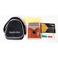 New 17 Keys mahogany solid wood Kalimba thumb finger piano
