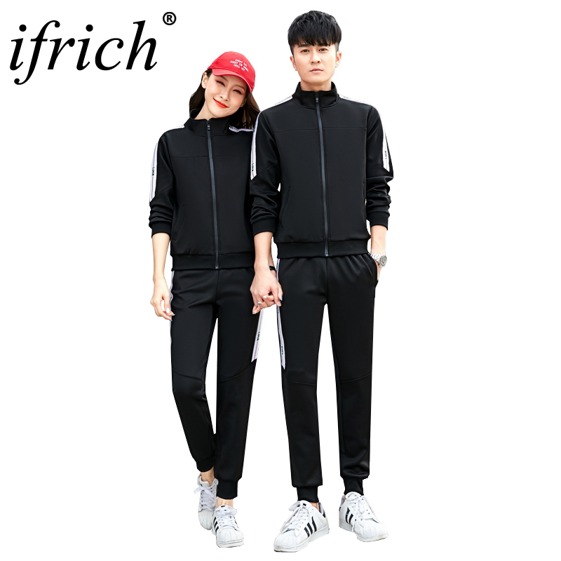 Tracksuit Set For Men And Women Autumn Spring Couples Track Suit Stand Collar Sportswear Hip Hop Casual Sets Fitness Sportsuit