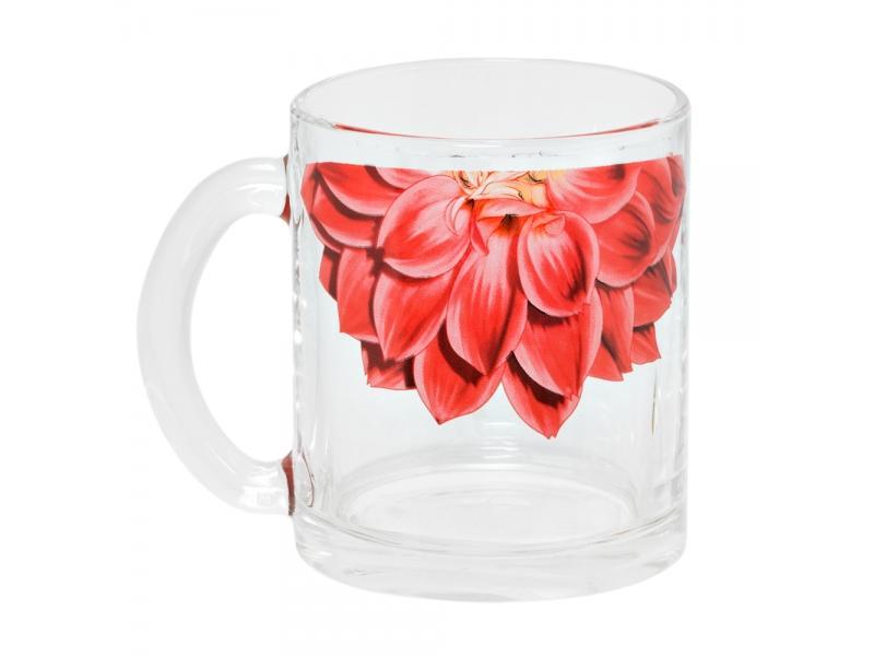 цена на Mug Experienced glass factory, Tea, Dahlia Red 1/2, 300 ml