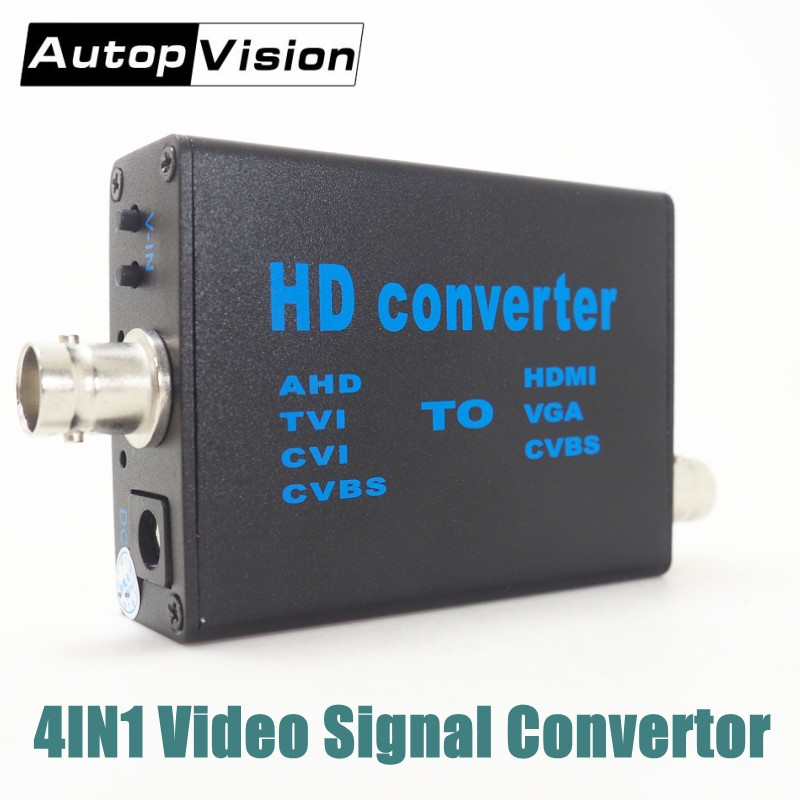 Factory Direct AHD/TVI/CVI/CVBS Signal To HDMI/VGA/CVBS Video Signal Convertor AHD41 Support 1080P,960P,720P Video Signal Input