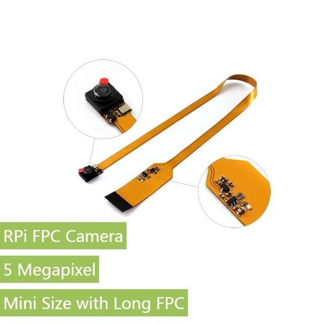 RPi FPC Máy Ảnh đối với Raspberry Pi A +/B +/2B/3B Kích Thước Nhỏ với Dài FPC lĩnh Vực 67.4 độ Xem 1080 p Cảm Biến độ phân giải tốt nhất