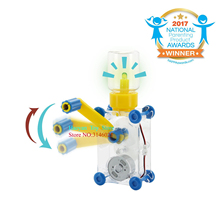 Dynamo Lantern Educational STEM Building Toy Hand Cranked Power Generator Light Bulb Science Experiments Kits untuk anak-anak Usia 8+