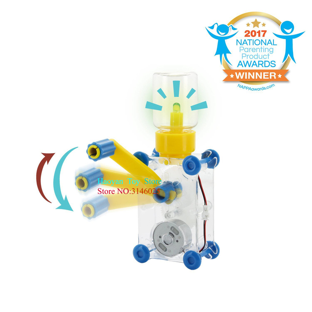 Dynamo Lantern Educational STEM Building Toy Hand Cranked Power Generator Light Bulb Science Experiments Kits for Kids Age 8+