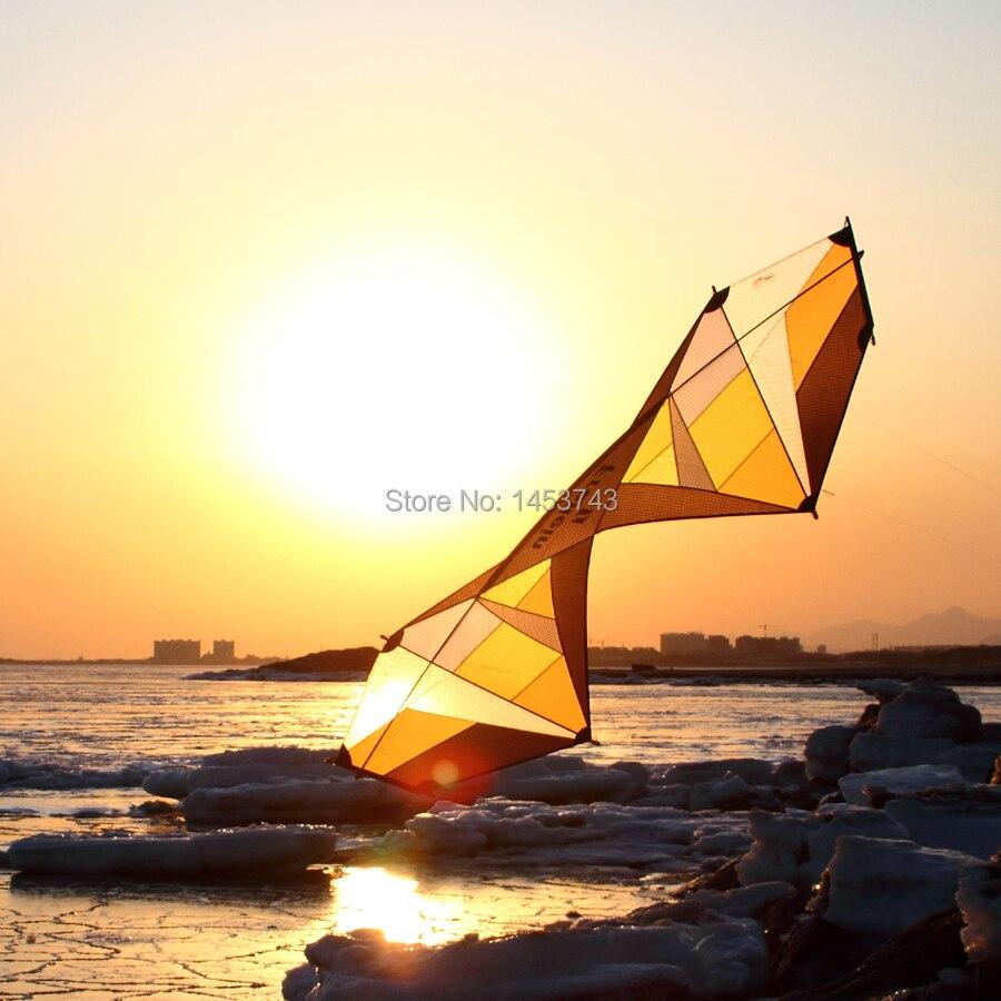 В виде длинного прямоугольника трюк кайт 7.5ft желтый профессиональный спортивный трюк воздушный змей сильный ветер Летающий для взрослых