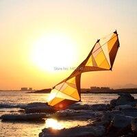 Quad Line Stunt Kite 7.5ft желтый Professional Sport Stunt Kite сильный ветер Летающий для взрослых
