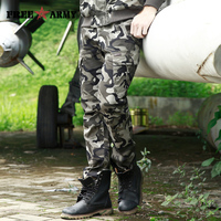 2017 Autumn Casual Men Classic Army Combat Cargo Camo Pants Cotton Pocket Long Male Camouflage Military