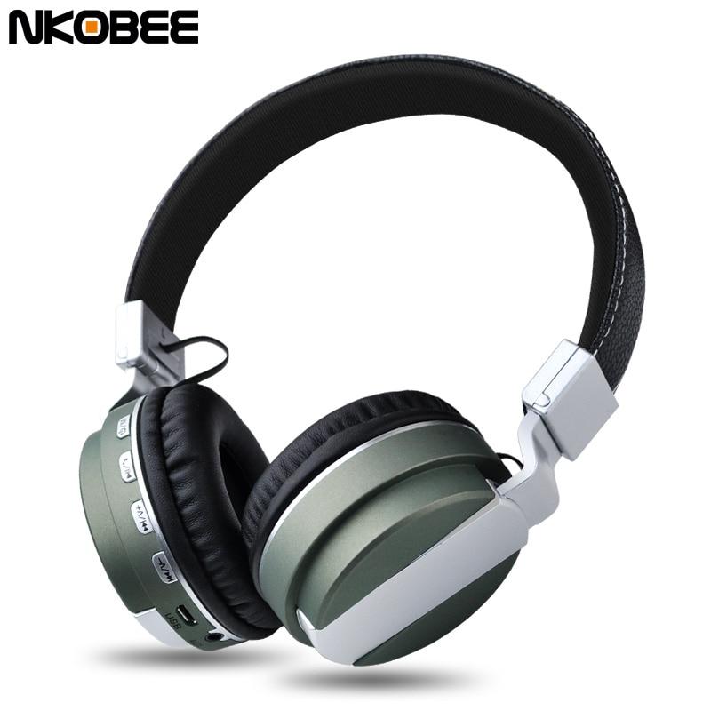 Wireless Headphone Bluetooth Earphone Headphone Stereo Foldable Handsfree bluetooth Headset TF Card headphone With Microphone