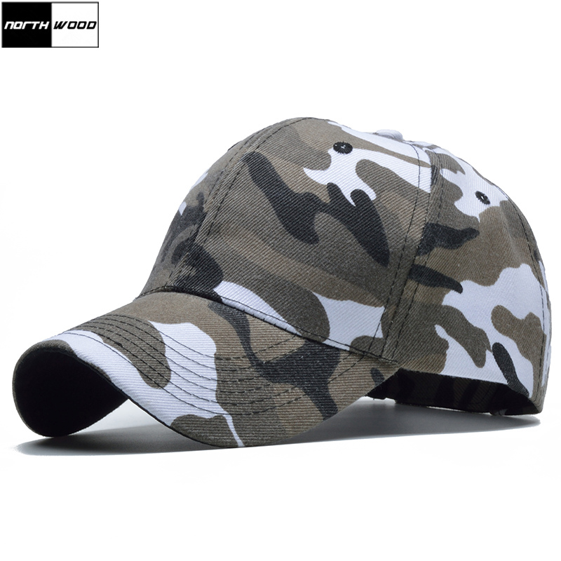 [NORTHWOOD] Snow Camo   Baseball     Cap   Men Tactical   Cap   Camouflage Snapback Hat For Men High Quality Bone Masculino Dad Hat Trucker
