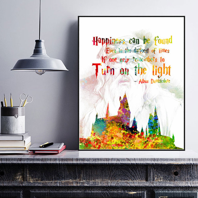 Hogwarts Dumbledore Quotes Harry Potter Quote Happiness Gift For