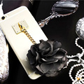New Rose Tassels phone covers For iphone 6s 6 6plus Flower Lace case transparent cover for iphone 7 7plus 6 6s 5 5s girl case