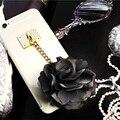 New rose borlas telefone capas para iphone 6 s 6 6 mais flor do laço caso capa transparente para iphone 7 7 plus 6 6 s 5 5S menina caso