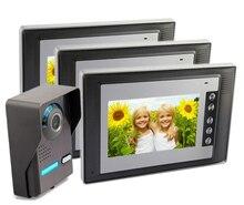freeship 7″door monitor door camera door intercom for apartment/hotel etc. video door camera door phone for  Wired Home Security