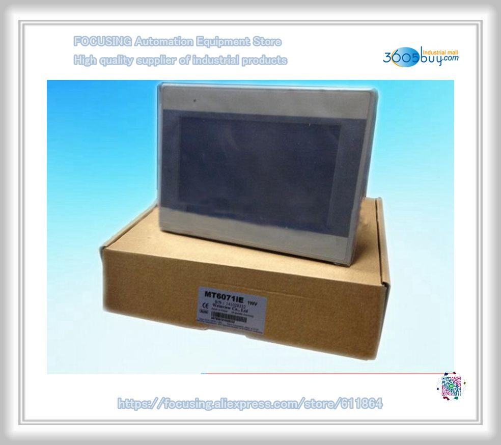 New original in box for touch panel display MT6071iE 7 nch 800*480 1 year warranty HMI pws5610s s 5 7 inch hitech hmi touch screen panel pws5610s s human machine interface new in box fast shipping