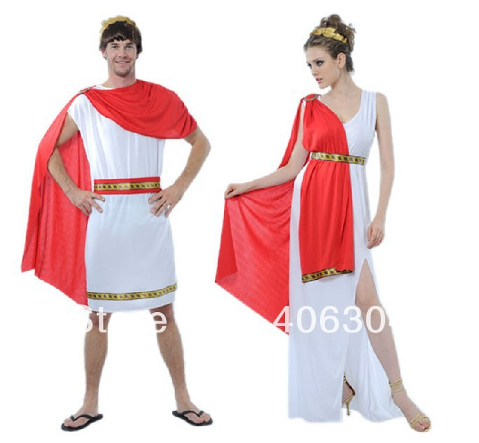 Envío libre, ropa de fiesta de halloween diosa árabe julio césar romano  prince traje,