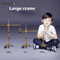 2018 Drop Shipping Tower Crane Efficient Collection Engineering Crane Toy Yellow Realistic Environmental Crane Toy Decor