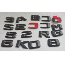 Черные матовые эмблемы для букв багажника Значки mercedes benz