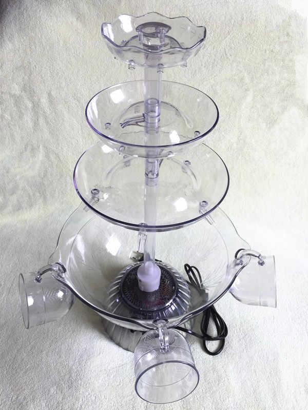 אדום יין מזרקת מכונת פירות מיץ לשתות בירה מפל מכונת מלון חתונה טקס מים בר לקבל יחד יין מפריד