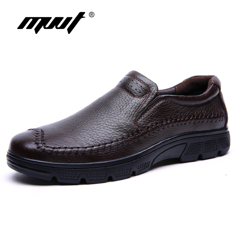 Spring New Plus Size Men Formal Shoes Genuine Leather Brogue Shoes Slip-on Dress Shoes 4 Season Classical Men Footwear skp151custom made goodyear 100% genuine leather handmade brogue shoes men s handcraft dress formal shoes large plus size