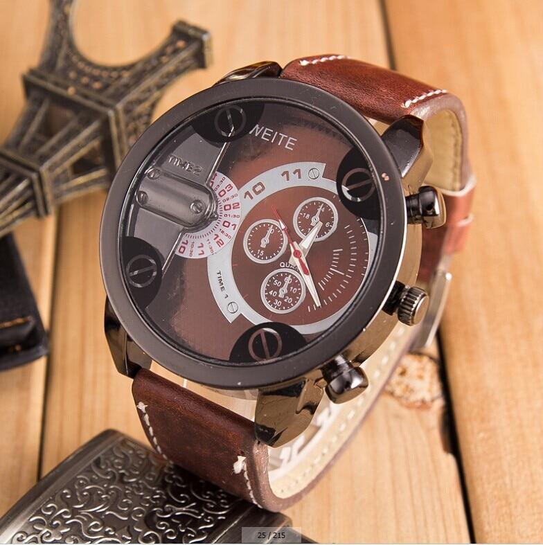2017 Hot Luxury Fashion Faux Leather Mens Analog Watches Men's Watch Male Quartz Clock Military relogio masculino Sport Watch цена