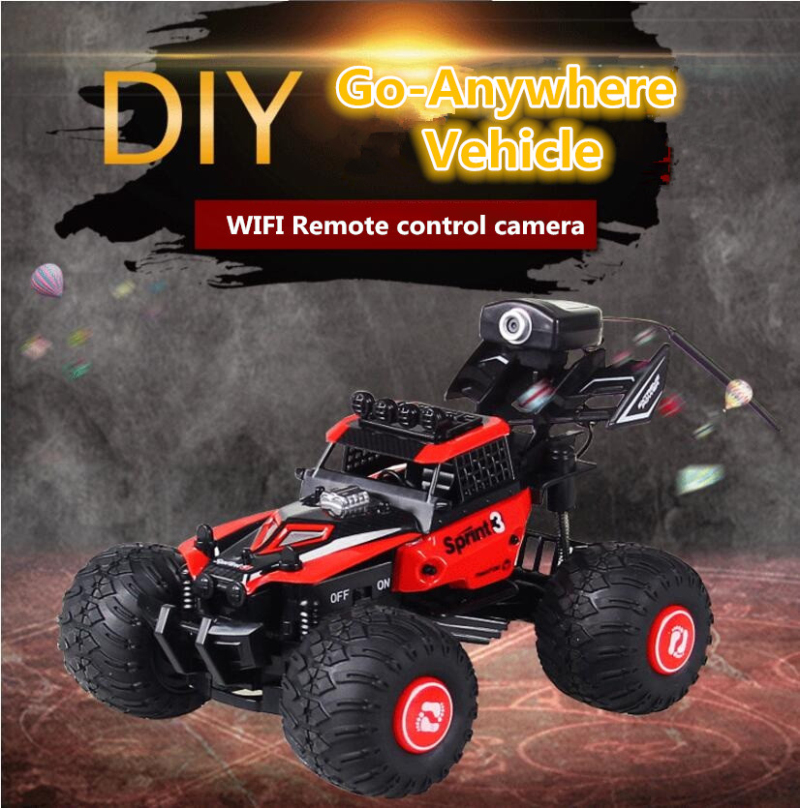 2018 Smart Vedio RC Car 2.4G 4WD Wifi DIY RC Racing Car with HD WIFI Camera Support Mobile Phone Control Monitoring Electric Toy