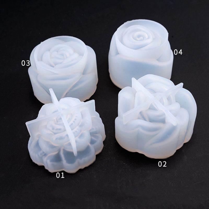 Crystal Epoxy Mould DIY Jewelry Stereo Flowers Variety Bright Mirror Flower Silicone Mold