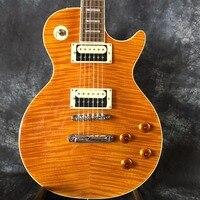 Классический 59 Цвет LP ГИТАРА LP массива красного дерева электрическая гитара, желтая Бесплатная доставка