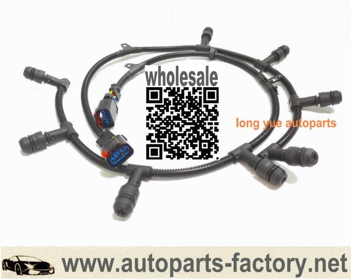 longyue 6.0L Diesel Glow Plug Harness Right & Left Case For Ford 2004-2010 E350 E450 F250 F350 OEM 5c3z9d930a for ford diesel powerstroke excursion f250 f350 f450 f550 250 350 450 550 f v8 6 0l fuel injector ficm wiring harness